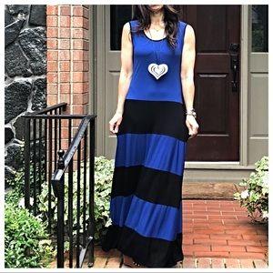 Dresses & Skirts - Color block tank maxi dress